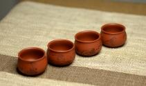 朱牧清紫砂壶  自用最佳 八大风格品茗杯~ 一套好玩~ 原矿降坡泥 - 美壶网