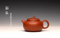 徐亚春紫砂壶 优质朱泥 自然褶皱 得趣自然 实用朱泥小品 全手茄瓜 原矿朱泥 - 美壶网