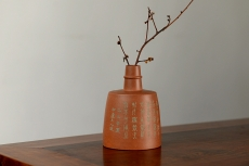 紫砂壶图片:淞庐全手作品 茶叶罐 造型新颖 雅致文气 - 全手工紫砂壶网