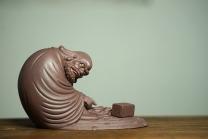美壶定制紫砂壶 细工大赞 刘祥精品雕塑 指点迷经  原矿紫泥 - 美壶网