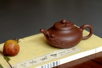 庄伟平紫砂壶 实用佳器 贴花经常 润桃 原矿清水泥 - 美壶网