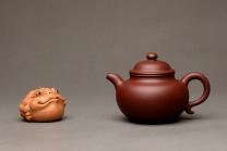 俞欣荣紫砂壶 美壶特惠 优质枣红泥 大亨莲子 百年经典器形 饱满大气 枣红泥 - 美壶网