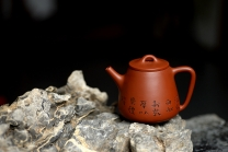 朱牧清紫砂壶 原矿赵庄朱泥高石瓢 高挑有力 实用茶器 原矿朱泥 - 美壶网