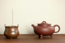 路达紫砂壶 美壶特惠 路达新品 大气古韵 进步之作 全手红炉  枣红泥 - 美壶网