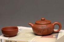 李彦雄紫砂壶 传统经典 优质降坡泥~~小仿古 刻绘精致 仅此一把 原矿降坡泥 - 美壶网