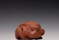 美壶定制紫砂壶 刘祥新品 可人小猴 做工精致 把玩茶宠 原矿清水泥 - 美壶网