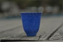 景德镇美杯紫砂壶 蓝色扒花杯  - 美壶网