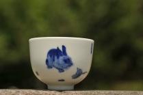 古月山房紫砂壶 生肖兔 景德镇主人杯  - 美壶网