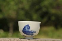 古月山房紫砂壶 生肖虎 景德镇主人杯  - 美壶网