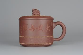 美壶定制紫砂壶 美杯特惠 瑞狮杯 好料精工盖杯 原矿紫泥 - 美壶网