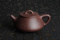 周斌紫砂壶 全手工铺砂平盖小石瓢 泥料优秀 实物更漂亮 原矿紫泥 - 美壶网