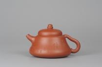 司磊紫砂壶 小红泥也是朱泥全手工葫芦 司磊精心装饰 原矿红泥 - 美壶网