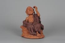 徐凤培紫砂壶 不可多得的用心之作 写意全手工修耳罗汉 精品雕塑  - 美壶网