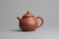 卢兰紫砂壶 全手工小红泥端庄秀美潘壶 原矿红泥 - 美壶网