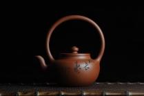 司磊紫砂壶 全手工精品小红泥也是朱泥旭茂提梁 文气十足 原矿红泥 - 美壶网
