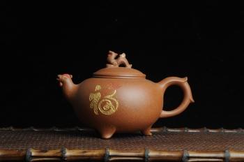 陈苏平紫砂壶 美壶特惠 金鸡纳福 寓意吉祥富贵 原矿降坡泥 - 美壶网
