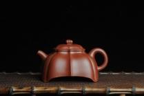 凌晨紫砂壶 优质大红袍朱泥玉菱壶 端庄秀雅 做工精致 大红袍 - 美壶网