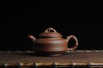 陈苏平紫砂壶 美壶特惠 优质紫泥双线竹鼓 原矿紫泥 - 美壶网