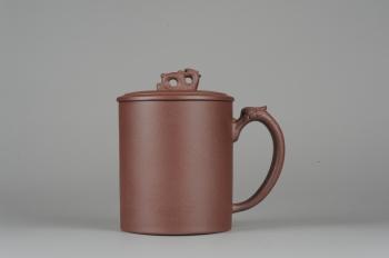 美壶定制紫砂壶 美杯年底特惠 优质紫泥龙行天下盖杯 原矿紫泥 - 美壶网