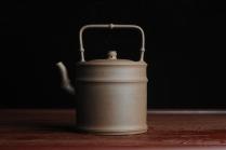 潘静超紫砂壶 美壶特惠 特好老段泥 精工竹段提梁 挺拔秀雅 老段泥 - 美壶网