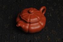 王世平紫砂壶 精致朱泥葵仿古 难度太大 收缩大 实属不易 大口实用 原矿朱泥 - 美壶网