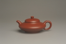 紫砂壶图片:小煤窑朱泥精致全手工小合欢壶 茶人醉爱 - 全手工紫砂壶网