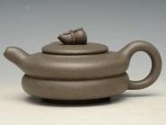 蒋彩萍紫砂壶 葫芦 泥料:青灰泥 300cc  - 美壶网