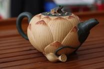 钱午生紫砂壶 荷花壶  - 美壶网
