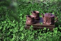 顾余根紫砂壶 鸣远松段套组  - 美壶网