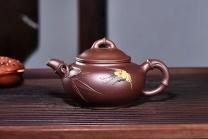 周庚大紫砂壶 竹叶丹青  - 美壶网