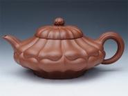 周亚萍紫砂壶 合菱(朱泥)  - 美壶网
