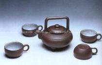 顾景舟紫砂壶 三线提梁茶具  - 美壶网