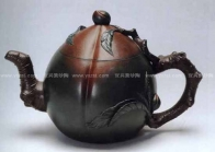 蒋蓉紫砂壶 长寿碧桃壶  - 美壶网