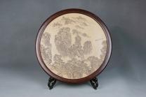 毛国强紫砂壶 山水有清音艺术盘  - 美壶网