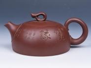 强建红紫砂壶 知心(底槽清)  - 美壶网