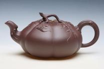 储彩琴紫砂壶 秋瓜  - 美壶网
