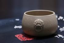 王朝红紫砂壶 兽耳杯  - 美壶网