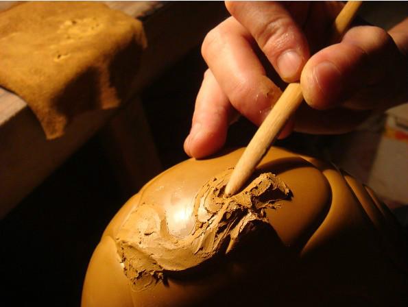 全手工紫砂壶鱼化龙制作的全过程赏析
