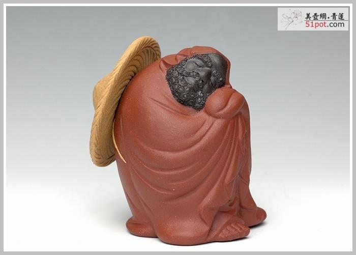 紫砂壶图片:三色-养心达摩 - 美壶网