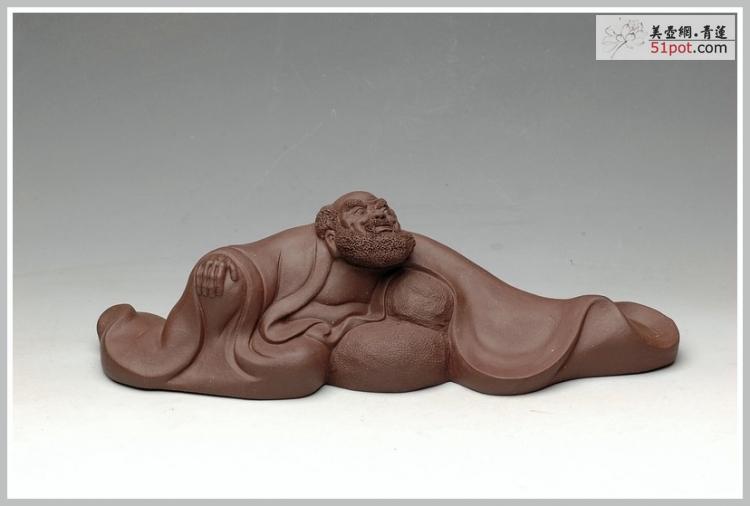 紫砂壶图片:禅意斐然 达摩笔架 - 美壶网