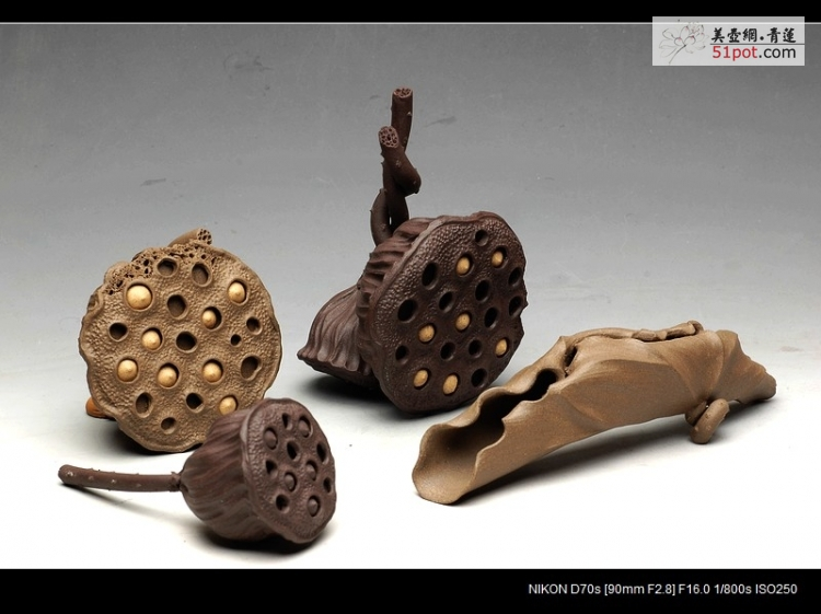 紫砂壶图片:文雅茶宠 手工精制 可看细节 精品 荷叶 - 美壶网