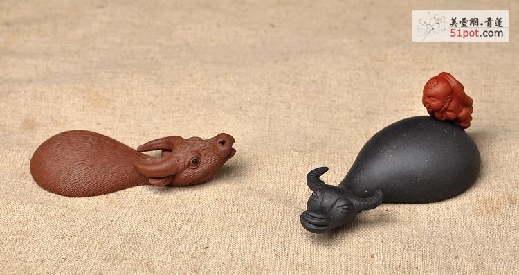 紫砂壶图片:水牛一家亲~ - 美壶网