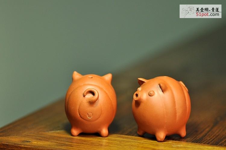 紫砂作品 全手工茶宠 文房水注~ 独角兽和短嘴小猪~ 简介