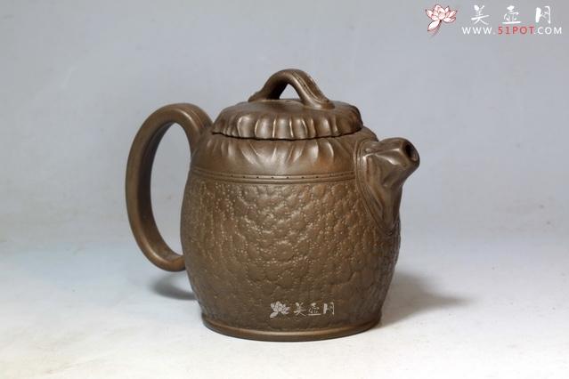 师的紫砂壶作品皮桶壶