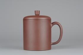 紫砂壶图片:优质紫泥 厚实朴玉杯 特惠紫砂盖杯 - 美壶网