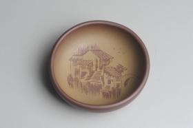 紫砂壶图片:美杯特惠 精品山水杯款式三 紫泥粉段泥 各不同^_^好玩 直径8.7cm - 美壶网
