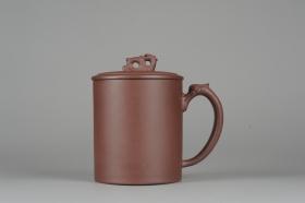 紫砂壶图片:美杯年底特惠 优质紫泥龙行天下盖杯 - 美壶网