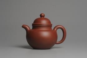 紫砂壶图片:油润底曹青 全手工寿珍掇球 深得老味 做工超好 - 美壶网