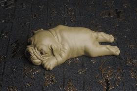 紫砂壶图片:美宠特惠 油润老青段沙皮狗茶宠 精工长13cm宽4到6.5cm高4cm - 美壶网