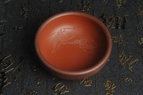 紫砂壶图片:美杯国庆特惠 精品好泥好工好刻雅致厚实品茗杯 对虾杯 - 美壶网